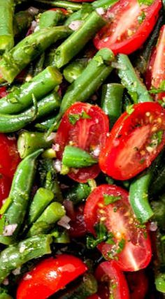 Green Bean and Cherry Tomato Salad with Vinaigrette Dressing
