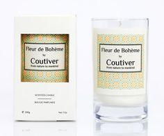 """Scented Candles """"Fleur de Bohême"""" handmade with Eco-soy wax non-GMO. Orange blossom."""