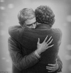 John and Sherlock by br0-Harry's on deviantART  (Sherlock Holmes, John Watson, Johnlock, Benedict Cumberbatch, Martin Freeman, Sherlock Fanart)