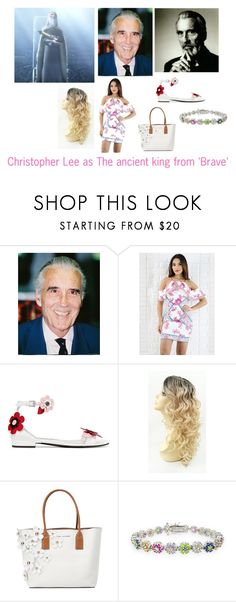 """""""Disney dream cast: Christopher Lee as The ancient king from 'Brave'"""" by sarah-m-smith ❤ liked on Polyvore featuring Prada, Marc Jacobs and Icz Stonez"""