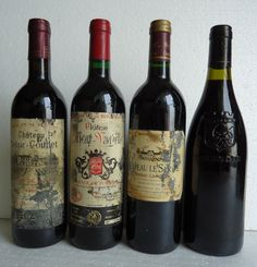 OLD & ROTTEN LABELLED GOOD QUALITY CHATEAU FRENCH RED WINE