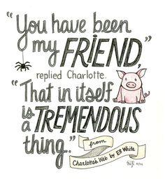 A quote from Charlotte's Web by E.B. White! Image... | HarperCollins Children's Books