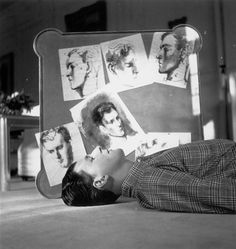 Stephen Tennant photographed by Sir Cecil Beaton at his childhood home, Wilsford Manor, 1938.