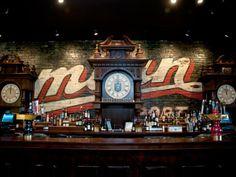 The Sportsman's Club, Analogue, and The Radler Open Restaurant Branding, Restaurant Design, Restaurant Interiors, Radler Beer, Basement Bar Designs, Beer Opener, My Kind Of Town, Neon Light Signs, Beer Bar