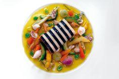 Saumon aux essences d'hysope et légumes confits de Maussane