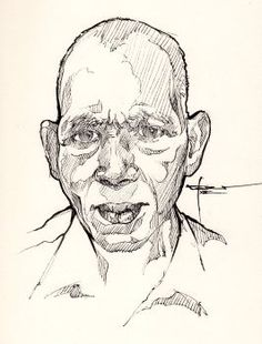 Ink-portrait-003 by mekhz