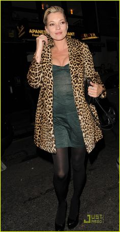 I would love to rock a leopard print coat Kate Moss style