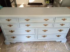 Custom 10 Drawer Refinished Gray Dresser by SimonSaysSalvage, $595.00