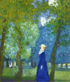 maurice denis(1870-1943), woman in blue, 1899. oil on paper, laid down on panel, 37.5 x 33 cm. private collection http://www.the-athenaeum.org/art/detail.php?ID=28184