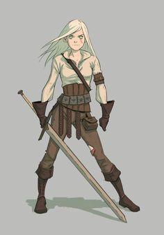 #The Witcher,Ведьмак, Witcher, ,Игры,Цири,Игровой арт,game…