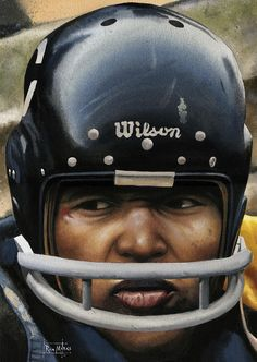 Nfl Football Helmets, Nfl Football Players, Bears Football, Football Art, Vintage Football, American Football League, National Football League, Chicago Bears Pictures, Gale Sayers