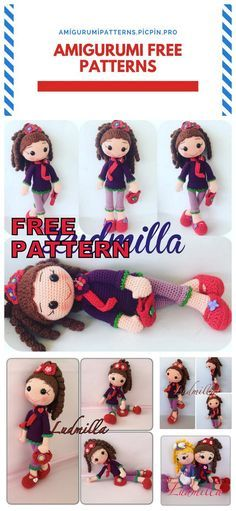 We continue to provide you with the latest recipes related to Amigurumi. Amigurumi tülin doll free crochet pattern is waiting for you. Crochet Amigurumi Free Patterns, Crochet Doll Pattern, Free Crochet, Amigurumi For Beginners, Doll Tutorial, Amigurumi Doll, Doll Patterns, Crochet Projects, Knitting
