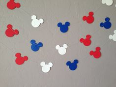 Mickey Mouse Garland/Banner Bridal Shower by eyepoppingcreations, $16.00