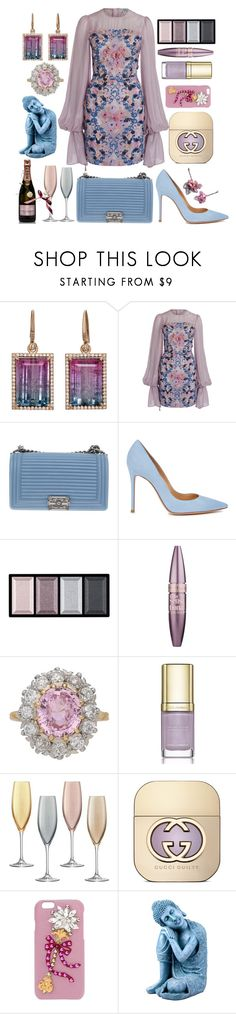 """Move Forward 💟"" by pulseofthematter ❤ liked on Polyvore featuring Irene Neuwirth, We Are Kindred, Chanel, Gianvito Rossi, Clé de Peau Beauté, Maybelline, Dolce&Gabbana, LSA International, MoÃ«t & Chandon and Gucci"