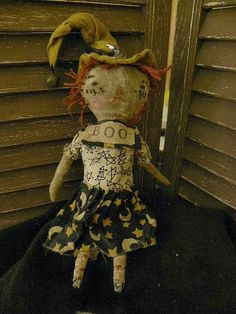 VERY Primitive Primitive Raggedy Ann Witch Stars by mustardseed