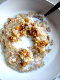 ... oatmeal - there's also apple pie oatmeal and banana coconut oatmeal