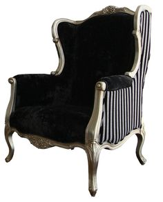 #victorian rethought #fashion #design #chair modern victorian chair black white stripes