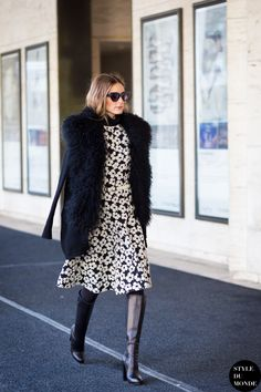 New York Fashion Week FW 2015 Street Style: Olivia Palermo - STYLE DU MONDE | Street Style Street Fashion Photos