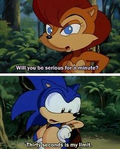 I can totally relate, Sonic. XD Sonic the Hedgehog - Sally Acorn - Archie - Sonic SatAM totally accurate Shadow The Hedgehog, Sonic The Hedgehog, Hedgehog Art, Sonic Satam, Sonic Funny, Sonic Boom, The Sonic, Sally Acorn, Sonic Underground