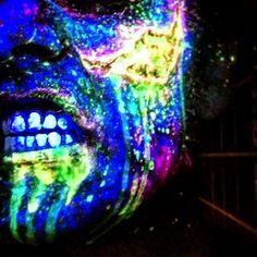 Test shot number two  #zombie #makeup #makeupfx #warmbodies #uv #blacklight #ravetothegrave #ecstasy #instashare