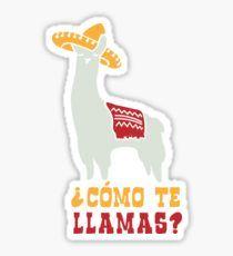 Como Te Llamas Funny Llama Spanish Word Humor Sticker Llama Puns, Funny Llama, Spanish Language School, Spanish Words, Transparent Stickers, Laptop Stickers, Sticker Design, Humor, Enamel
