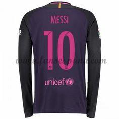 ea3a5d56a85e4 Camisetas De Futbol Barcelona Messi 10 Segunda Equipación Manga Larga 2016- 17