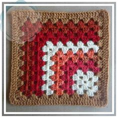 "Creative Crochet Workshop: Free (9"") Mitered Granny Square Pattern. 'Crochet A Block' series - no.3"