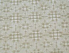 Eva Stossel Lace & Spot Weave Variation #3, white warp, white weft
