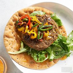 For Meatless Monday or for the vegetarians amongst your barbecue crowd, mix up a batch of these mushroom and lentil veggie burgers.