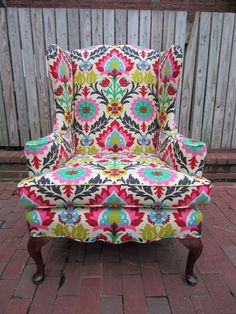 love this patterned chair!