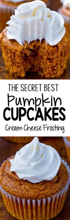 The Easy Secret Best Pumpkin Cupcake Recipe Gluten Free Desserts, Healthy Desserts, Just Desserts, Delicious Desserts, Baking Desserts, Mug Cake Healthy, Healthy Carrot Cakes, Easy Baking Recipes, Healthy Pumpkin
