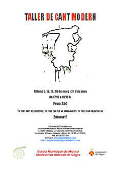 Taller de Cant Modern (maig-juny 2014) Inscripcions fins al 4 de maig a: http://escolamusicasitges.wordpress.com/activitats/taller-de-cant-modern/