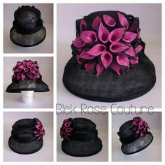 Sinamay hats by Blek Rose Couture