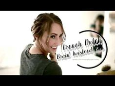 FRENCH BRAID TWISTED BUN HOLIDAY HAIRSTYLE TUTORIAL - Dani Marie Blog
