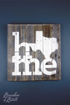 Texas Home Reclaimed Wooden Sign                                                                                                                                                                                 More