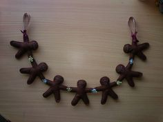 Felt Gingerbread Man Garland and Wall Hanging by witchywoocrafts, $12.35