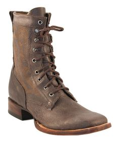 Take a look at this Chocolate Vintage Motorcycle Boot - Men by Lucchese on #zulily today!