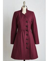 ModCloth | Outdoor Orchestra Coat In Berry |  Lyst