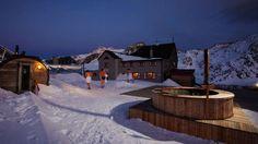 Außensauna: Schutzhütte Schöne Aussicht in Südtirol