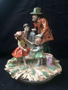 Antique German Porcelain Scheibe Alsbach  Heinz Schober Musikant mit kinder
