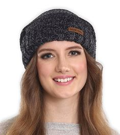 76218b8d1e5 Brook Bay Womens Slouchy Cable Knit Cuff Beanie Chunky Oversized Slouch  Beanie Hats for Winter Stay