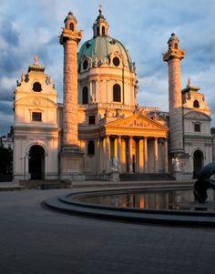 St. Charles (Karlskirche) church in Vienna, Austria