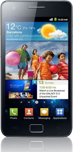 Samsung Galaxy S II GT-I9100 Unlocked Phone with 8MP Camera and Touchscreen - International Version (Black) - For Sale