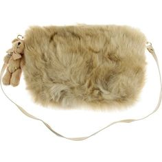 Miss Grant Junior Girls Beige Fur Handbag With Detachable Teddy Charm ($125) via Polyvore