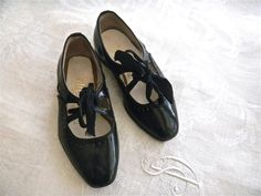 Black Patent Leather Girl's Shoes 1960s  by sinbadssister on Etsy, $20.00
