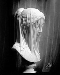 Giovanni Strazza's Sculpture - 'The Veiled Virgin'  At St. John's, Newfoundland Photography by Stone Island Photography