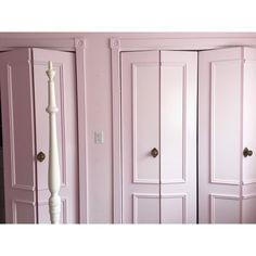 those closet doors tho. Pink, Pink Closet, Closet Bedroom, Tall Cabinet Storage, Home Projects, Pink Room, Build A Closet, Room, Pink Door