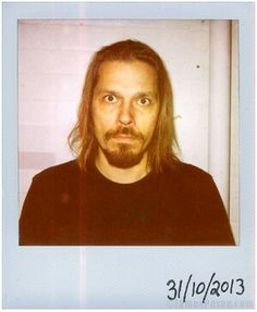 Emerson Burton from HIM by James Perou for 'Polaroids of Folk that Make Music', 31/10/ 2013.