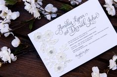 Industrial meets sweet with this charming wedding invitation See more here: https://www.engagingpapers.com