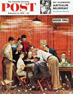 """Norman Rockwell """"The Holdout"""" (1959)"""